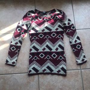 3/$30 Charlotte Russe Geometric Print Sweater XS